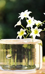 deocrations שולחן אגרטל זכוכית שקוף סידורי שולחן (פרחים לא כלולים)