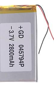 "Universele vervanging van 3.7V 2800mAh Li-polymer batterij voor 7 ~ 10 ""Macbook Samsung Acer Sony Apple Tablet PC (4 * 57 * 94)"