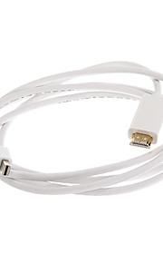 Thunderbolt Male til HDMI Male Hvit videokabel til MacBook (180cm)
