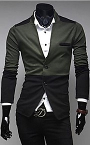 Men's Slim Contrast Color Splicing Blazer(Acc Not Included)