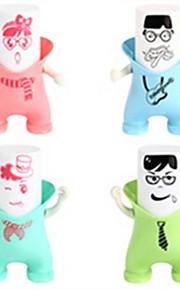 Happy The Guardian Mouthwash Seat,Dust Tooth Mug,Toothbrush Holder Dispenser,Plastic Set 3 Pcs (Random Color)