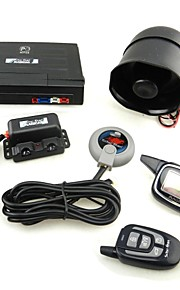 M7 russiske version Two-Way Car Alarm System - Sort