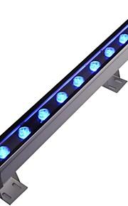 9pcs LED de haute puissance conduit extérieur 9w mur bleu lumière laveuse ac85-265v