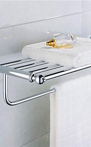 zeitgenössische verchromt Messingmaterial Badezimmerregale