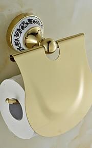 Ceramic Brass Golden Ti-PVD Toilet Paper Holders