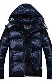 Men's New Thick Dark Blue Warm Skiing Down Jacket Coat