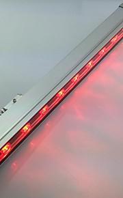 9pcs puissance élevée a mené l'extérieur 9w mur rouge rondelle lumière (AC85-265V)