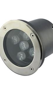 5pcs LED High Power 5W extérieur blanc souterrain lampe (AC85-265V)