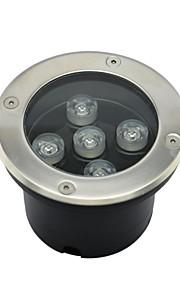 5pcs LED de haute puissance 5w extérieur lampe souterrain (AC85-265V)