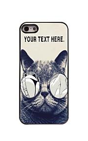 gepersonaliseerd geval wellustige kat ontwerp metalen behuizing voor de iPhone 5 / 5s