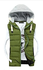 Men's Fashion Casual Removable Hood Cotton-Padded Vest(Acc Not Included)