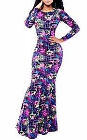 Kleid - Maxi - Andere - Sexy/Bodycon/Bedruckt/Maxi