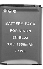 3.7v 1850mAh mini dv battery voor Nikon Coolpix P600 en-el23