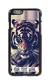 персональная случай тигр дизайн корпуса металл для iphone 6 плюс