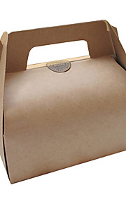 Portable Kraft Paper Cake Favor Boxes(Tags Excluded)