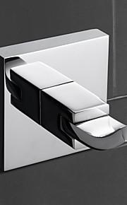 accessori bagno gancio accappatoio in ottone, ottone accessori finitura cromo bagno (0640-3201)