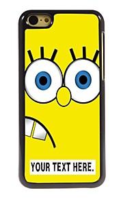 персонализированные Мультфильм металлический корпус желтый дизайн для iPhone 5с