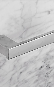 Contemporary Quadrate Stainless Steel Toilet Roll Holders