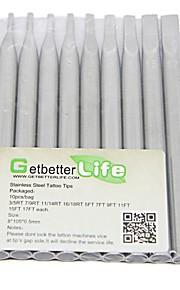 getbetterlife® 10 stuks verschillende maten 108mm 304 roestvrij staal tips
