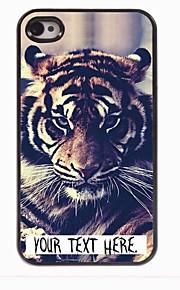 מקרה עיצוב מתכת מותאם אישית מקרה נמר במשך 4 / 4S iPhone