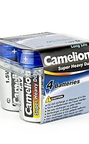 camelion super heavy duty d formaat batterij in plastic doos van 4 stuks