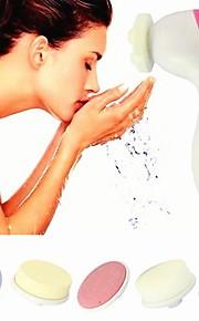 5in1 multi-funksjonelle cuticle remover ansikts pore renere&ansikts massasjeapparat med fem hode (drevet av to AA-batteri)