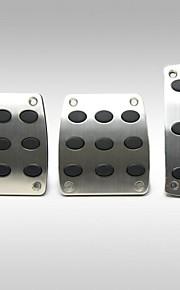 Tirol generel skridsikker bremse aluminium manuel bil pedaler dække fodhviler skridsikkert sikkerhed accelerator 3pcs / lot