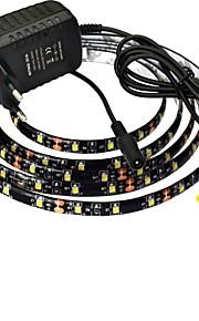 jiawen® imperméable à l'eau de 2,5 m 10w 150x3528smd 3000-3200k blanc chaud / blanc led strip puissance 2a éclairage flexible + (AC 110-240V)