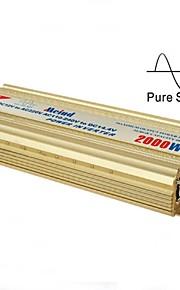 meind® inverter 2000W ren sinusbølge med oplader 12V DC til 220V konverter billader mz2k