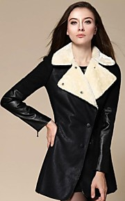Women's New Turn-down Collar Fashion Slim Coat