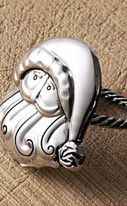 set di anello di tovagliolo 4 Babbo Natale, in lega di zinco, 5.5x4cm