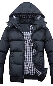 Men's Warm Detachable Cap  Down Jacket