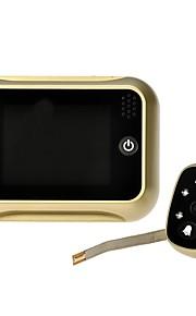 """3.5 """"LCD digital kighul fremviser 120 ° dør øje dørklokken video farve IR kamera guld"""