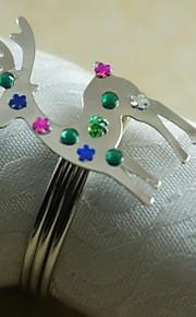 Weihnachten Rentier Serviettenring vielen Farben, Acryl, 4,5 cm, 12er Set