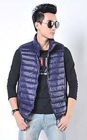 Men's Mock Neck Zip Solid Color Down Vests(More Colors)