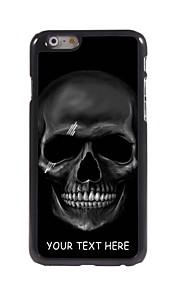 パーソナライズされた携帯電話のケース - iPhone 6用の黒スカルデザインメタルケース