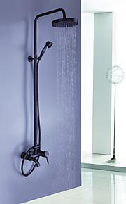 huilé mur bronze monté cascade pluie + robinet de douche de poche