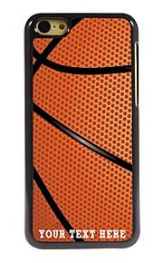 パーソナライズされた携帯電話のケース - iPhone 5cのためのバスケットボールの設計金属ケース