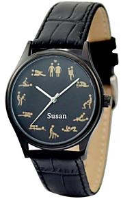 黒の場合のjust2youパーソナライズ市民運動性的文化の時計