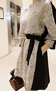 Women's Solid Color Simple And Stylish Long Sleeve Dress