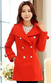 Women's Double Breasted Tweed Coat(More Colors)