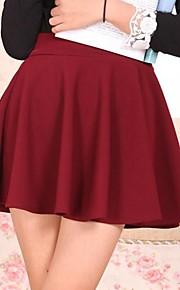 Jupes Aux femmes Mini Sexy / Soirée Mélanges de Coton Elastique