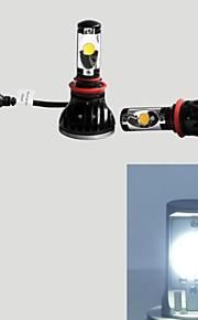 2pcs 24w 5000K H11 LED luminoso dei fari delle automobili