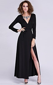 Women's Sexy / Party Dress Maxi Polyester