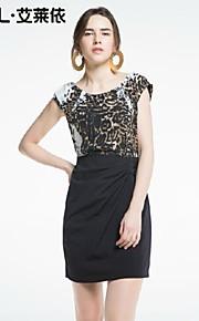 Women's Black Dress , Bodycon/Casual Short Sleeve