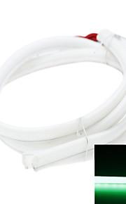 2 x LED Bande 80cm feux 79led 3014smd IP65 étanche lumières décoratives DC12V 5.5W 490-560nm vert diurnes