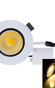 SENCART 3 W 1PCS COB 300-350 LM Warm White Recessed Retrofit Decorative Ceiling Lights AC 85-265 V