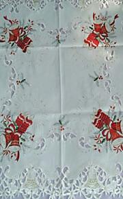 красивая вышивка рождественские скатерти