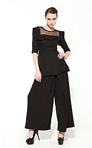 JOANNE KITTEN Women's Black Loose Pants , Vintage/Casual/Party/Work