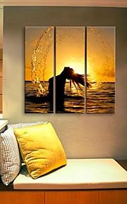e-FOYER toile tendue es le profil de l'eau décoratif ensemble de trois de peinture